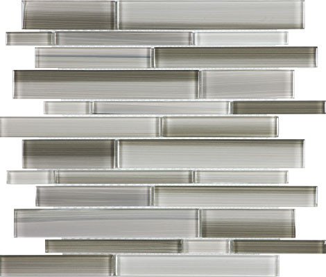 Fusion Clay Random Strip Glass Mosaics