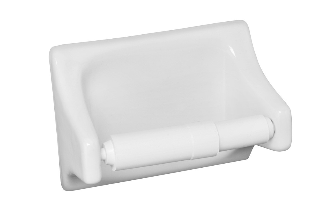 White Toilet Tissue Holder 4x6 Tiles Direct Store
