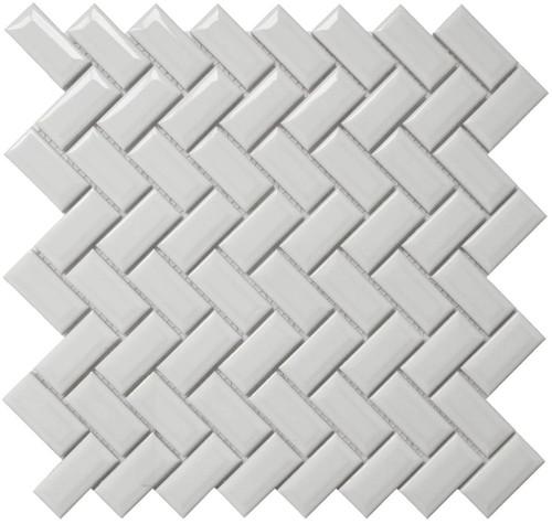 Cc Mosaics Bright White Diamond Herring 12x12 Tiles