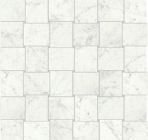 "I Marmi Carrara Polished Woven Rectangle Mosaic 1.75"" x 2"""