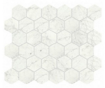 I Marmi Carrara Matte Hexagon Mosaic 2x2