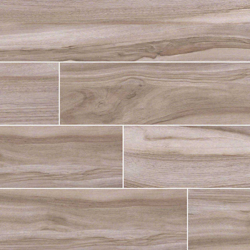 Aspenwood Collection - Ash Porcelain Matte 9x48