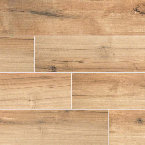 Palmetto Collection - Cognac Porcelain 6x36