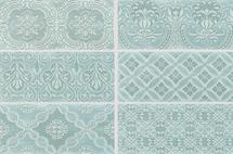 Maiolica - Aqua Ceramic Deco Insert Wall Tile 4x10