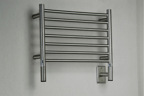 "Jeeves Collection - Model H Straight - Brushed - Heated Towel Rack 20.5"" x 18"""