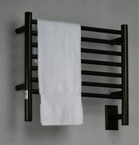 "Jeeves Collection - Model H Straight - Oil Rubbed Bronze - Heated Towel Rack 20.5"" x 18"""