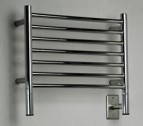 "Jeeves Collection - Model H Straight - Polished - Heated Towel Rack 20.5"" x 18"""