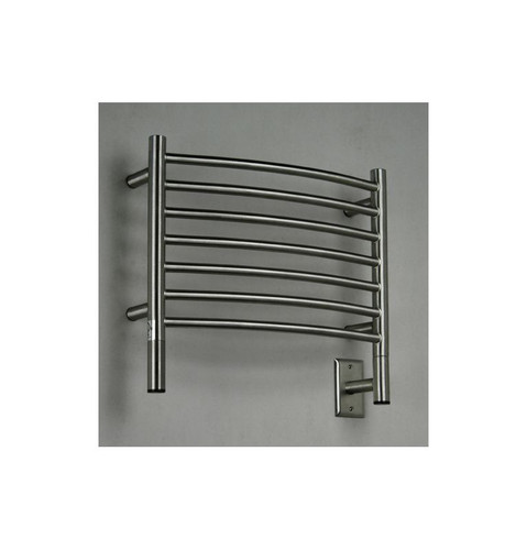 "Jeeves Collection - Model H Curved - Brushed - Heated Towel Rack 20.5"" x 18"""