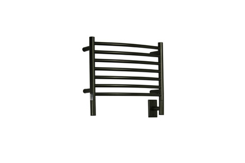 "Jeeves Collection - Model H Curved - Oil Rubbed Bronze - Heated Towel Rack 20.5"" x 18"""