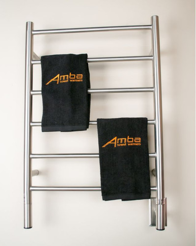 "Jeeves Collection - Model J Straight - Brushed - Heated Towel Rack 20.5"" x 31"""