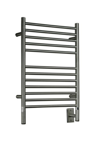"Jeeves Collection - Model E Straight - Brushed - Heated Towel Rack 20.5"" x 31"""