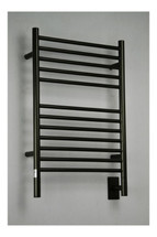 "Jeeves Collection - Model E Straight - Oil Rubbed Bronze - Heated Towel Rack 20.5"" x 31"""