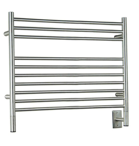 """Jeeves Collection - Model L Straight - Brushed - Heated Towel Rack 39.5"""" x 27"""""""