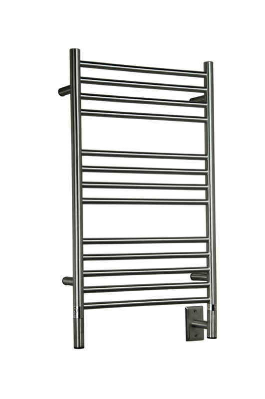 Jeeves Collection Model C Straight Brushed Heated Towel Rack 20 5 X 36