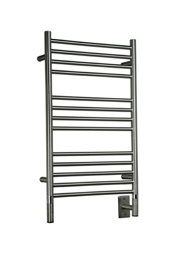 "Jeeves Collection - Model C Straight - Brushed - Heated Towel Rack 20.5"" x 36"""
