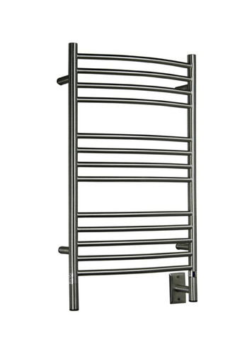 "Jeeves Collection - Model C Curved - Brushed - Heated Towel Rack 20.5"" x 36"""