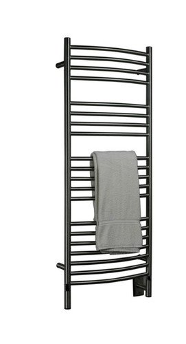 """Jeeves Collection - Model D Curved - Brushed - Heated Towel Rack 20.5"""" x 53"""""""