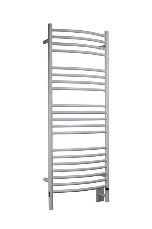 Jeeves Collection Model D Curved White Heated Towel Rack 20 5 X 53