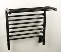 "Jeeves Collection - Model M Shelf - Oil Rubbed Bronze - Heated Towel Rack 20.5"" x 22"""