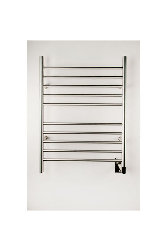 Radiant Collection Straight Hardwired Brushed Heated Towel Rack 24 X 32