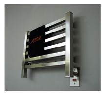 """Quadro Collection - Model Q 2016 - Brushed - Heated Towel Rack 20"""" x 16"""""""