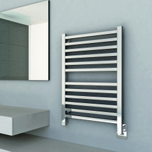 "Quadro Collection - Model Q 2033 - Brushed - Heated Towel Rack 20"" x 33"""