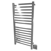"Quadro Collection - Model Q 2042 - Brushed - Heated Towel Rack 20"" x 42"""