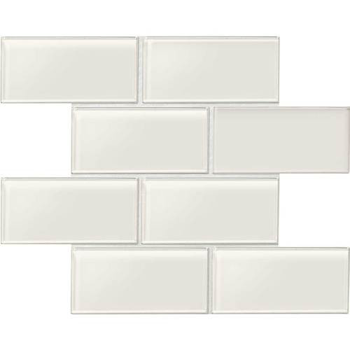 "Amity - White Subway Glass Tile 3"" x 6"""