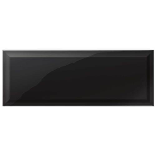 "Annapolis - Black Subway Glossy Bevel Ceramic 6"" x 16"""
