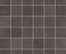 "Re_Micron Collection - Dark Grey Natural Mosaic 2"" x 2"" On 12"" x 12"" Sheet"