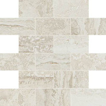 Exquisite Collection - Ivory Brick Joint Mosaic 2x4 On 12x12 Sheet