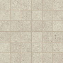 Haut Monde Collection - Leisure Beige Polished Porcelain Mosaic 2x2 On 12x12 Sheet