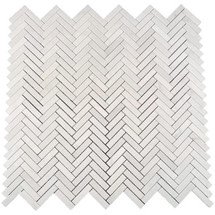 Eastern White Herringbone Polished 12x12