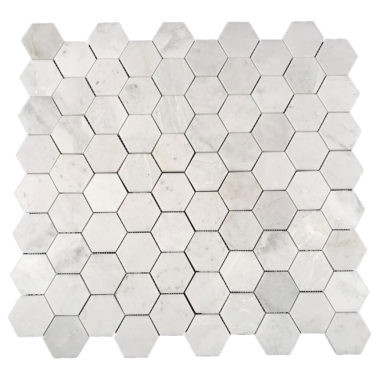 "Eastern White Polished Hexagon 2.75"" (SWEEHEXPOL)"