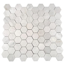 "Eastern White Polished Hexagon 2.75"" (SWEEHEXPOL)"