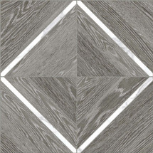 Aspen Grey Ridge with Statauario 16x16 Marquetry Mosaic