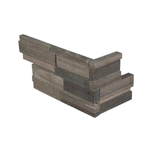 "Ledger Panel Brown Wave 3D Honed ""L"" Corner 6x18x6 (LPNLDBROWAV618COR-3DH)"