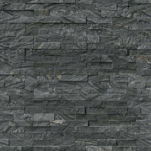 Ledger Panel Glacial Black Splitface Panel 6x24 (LPNLMGLABLK624)