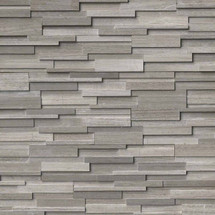 Ledger Panel Gray Oak 3D Honed Panel 6x24 (LPNLMGRYOAK624-3DH)