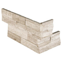 "Ledger Panel White Oak Splitface ""L"" Corner 6x12x6 (LPNLMWHIOAK618COR)"