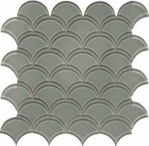 Element Smoke Scallop Glass Mosaics (35-108)