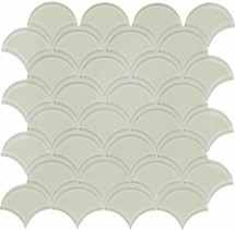 Element Sand Scallop Glass Mosaics (35-110)