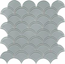 Element Shadow Scallop Glass Mosaics (35-112)