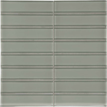 "Element Smoke Stacked Glass Mosaics 1.5"" x 6"" (35-116)"