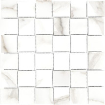 Mayfair Calacatta Oro 2x2 HD Basketweave Porcelain Mosaics (69-357)