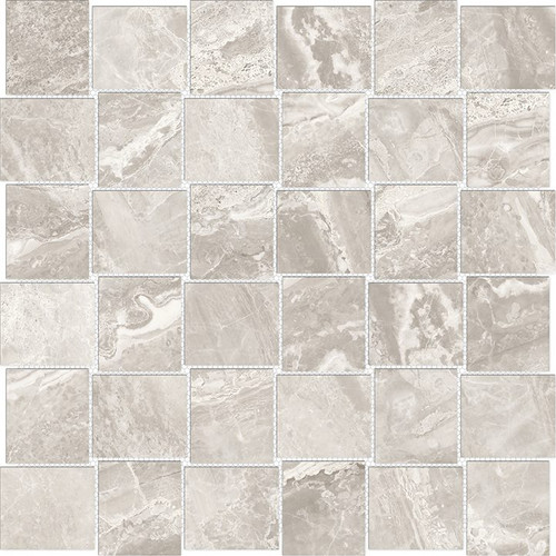 Mayfair Stella Argento 2x2 HD Basketweave Porcelain Mosaics (69-360)