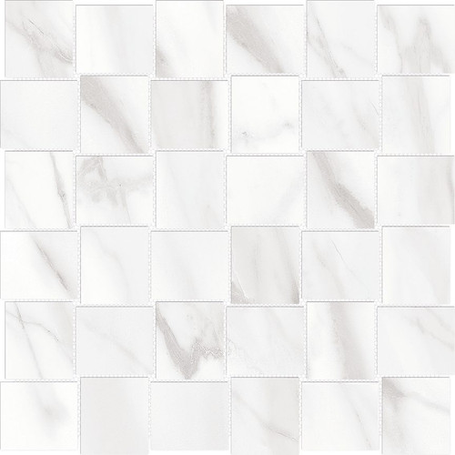 Mayfair Volakas Grigio 2x2 HD Basketweave Polished Porcelain Mosaics (69-906)
