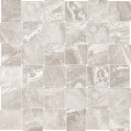 Mayfair Stella Argento 2x2 HD Basketweave Polished Porcelain Mosaics (69-907)