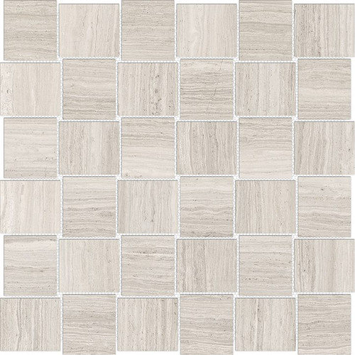 Mayfair Strada Ash 2x2 HD Basketweave Polished Porcelain Mosaics (69-951)