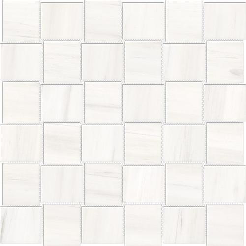 Mayfair Suave Bianco 2x2 HD Basketweave Polished Porcelain Mosaics (69-953)